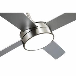 Ventilador de techo, Tube Silver, 132 cm, noquel/ plata/ haya con luz LED, mando a distancia, Lba Home.