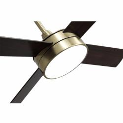 Ventilador de techo, Tube Brass, 132 cm, latón/ roble/ cerezo con luz LED, mando a distancia, Lba Home.