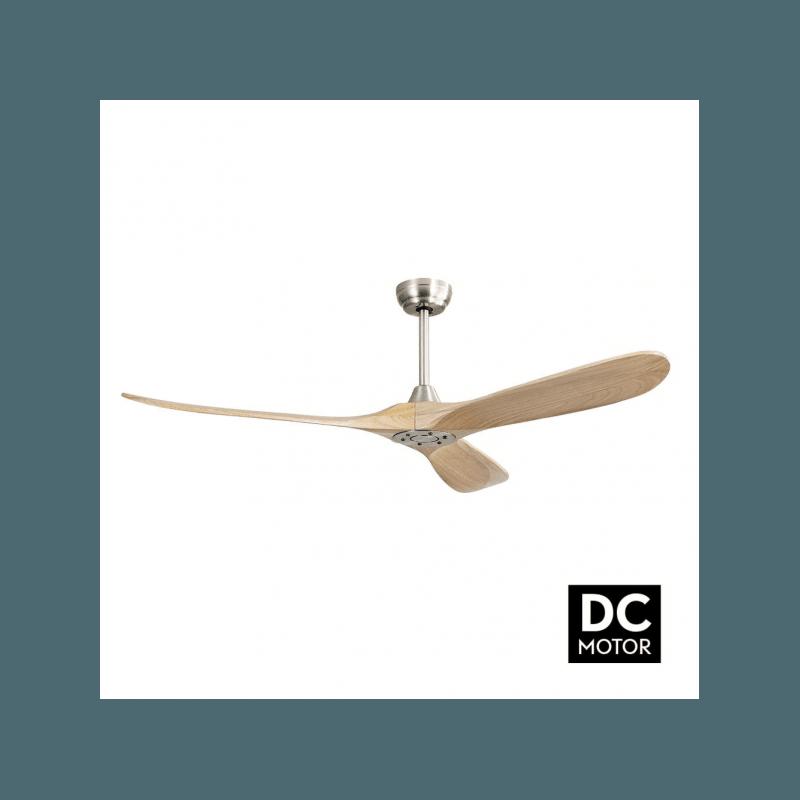 Ventilador de techo, Propiler Slide wood , 132 cm, DC, hyper silencioso, niquel/base, Lba Home.