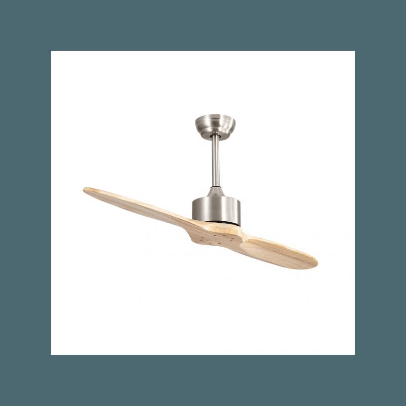 Ventilador de techo, Boussole Slide wood , 132 cm, DC, hyper silencioso, niquel/base, Lba Home