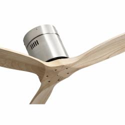 Ventilador de techo, Short Slide Wood , DC, 132 cm, DC, moderno, cuerpo de niquel/palas de haya, Lba Home