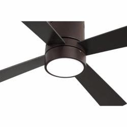 Ventilador de techo, Twist Lt Brown , 122 cm, cuerpo marrón/palas marrones y haya, con luz LED, mando a distancia, Lba Home.