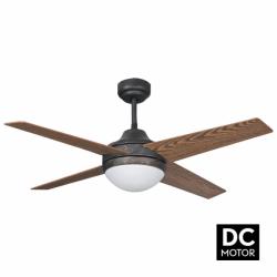 Ventilador de techo, Elysa rustik DC, DC, 112cm, marrón antiguo/cerezo/nogal, con luz, Lba Home.