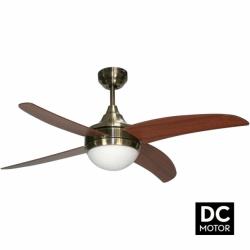 Ventilador de techo, Artus DC Cherry, DC, 116cm, palas de cerezo, con luz, mando a distancia, Lba Home.