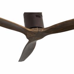 Ventilador de techo, marrón corto, DC, 132 cm, DC, moderno, cuerpo marrón oscuro/roble, Lba Home
