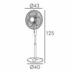 Ventilador de pie, Arifi , 40W, blanco, metal y policarbonato blanco, Lba Home.