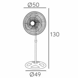 Ventilador 3 en 1, Maloja, nº 3 unidades, 70 W, metal negro/cromo, Lba Home.