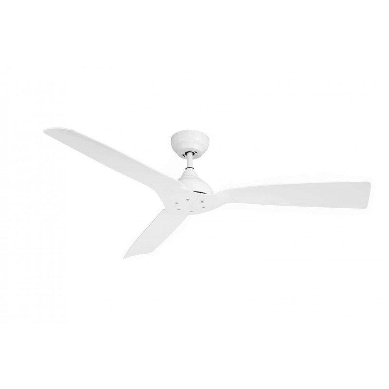 Ventilador de techo, Waterwind Wi IP44, 132cm, ideal para exteriores cubiertos, blanco, control remoto+wifi, Klassfan