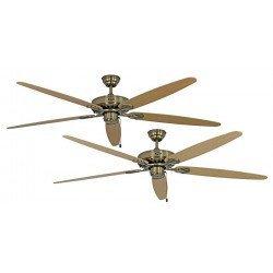 Ventilador de techo, Royal MA 180 cm, latón antiguo, aspas roble/nogal, CASAFAN