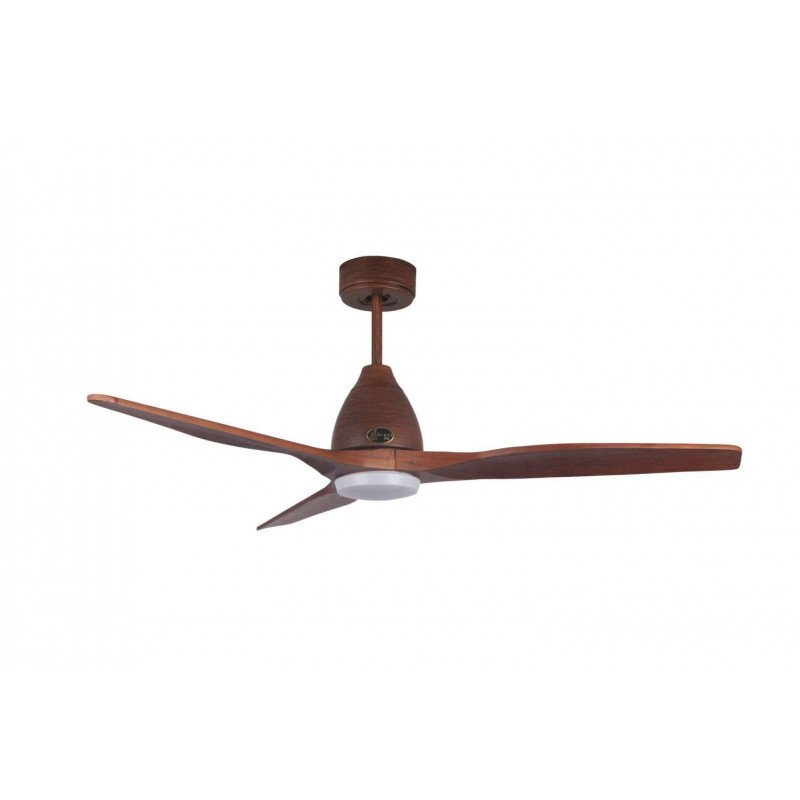 Ventilador de techo, Moverick, 132cm, moderno, madera, con luz, wifi, termostato, Klassfan.