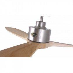 Ventilador de techo, Latino III LT, 166cm, DC, madera clara/ cuerpo cromado, destratificador, LED+dimmer, wifi, Klassfan.