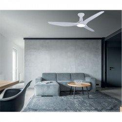 Ventilador de techo, Kookai II, 132cm, DC, blanco, LED+dimmer, wifi, termostato, destratificador, Klassfan.