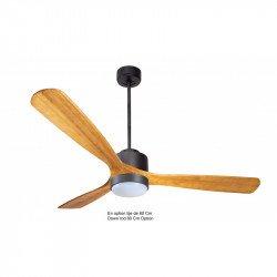 Ventilador de techo-destratificador, Módulo, 166 cm, DC, gris basalto/madera clara, termostato, wifi, LED, Klassfan