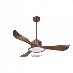 Ventilador de techo / destratificador, Módulo, 132cm, DC, silencioso, marrón, termostato, wifi, LED, Klassfan