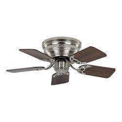 Ventilador de techo, Classic Flat, 79 cm, ultra plano, silencioso , aspas nogal /haya y cromo cepillado, CASAFAN
