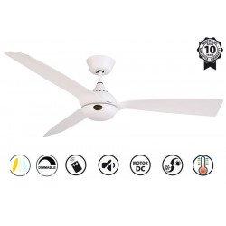 Ventilador de techo, Hackney II White , 132 cm, diseño, blanco, DC, LED+dimmer, IP20, wifi, Klassfan