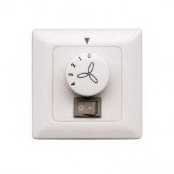 Caja de control a empotrar para ventilador de techo