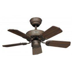 Ventilador de techo, Royal 75 BA cm, Marrón antiguo, aspas de madera de nogal