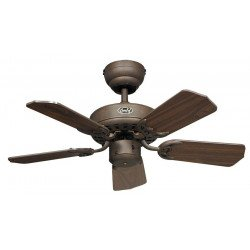 Ventilador de techo, Royal 75 BA cm, Marrón antiguo, aspas de madera de nogal