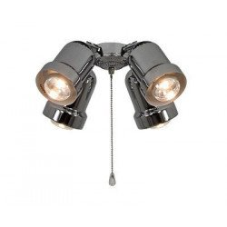 Kit luminario para ventiladores de techo Light 4 versiones Eco Elements, Carribean Dream, satin star, royal, merkur etc (Chromo)