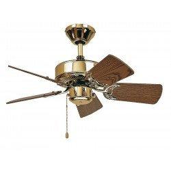 Ventilador de techo, Royal 75 MP cm, Latón Pulido, aspas de roble CASAFAN