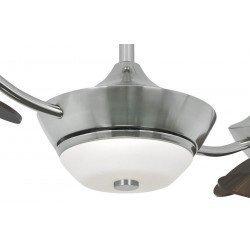 Ventilador de techo Efan 107 cm acero cepillado aspas doble cara nogal silencioso y original