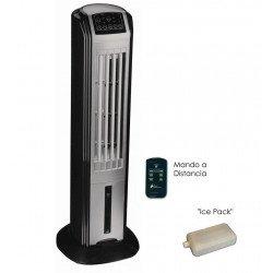 Climatizador Evaporativo Rafy 80, una torre de ventilación que enfría discrette elegante eficaz.