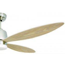 Ventilador de techo Stratus de 132 cm DC, un ventilador moderno, LED brillante aspas de arce puntiagudas control remoto.
