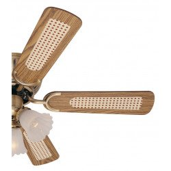 Ventilador de techo 105 cm, laton antiguo con 3 luces aspas con dos caras impecables.