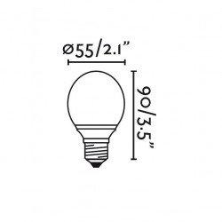 Paquete de 4 bombillas LED BOLA BLANCA CALIENTE E27 3W