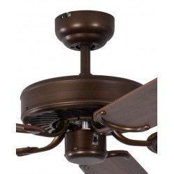 Ventilador de techo classico silencioso 132 cm Bronce antiguo, aspas nogal Potkuri Pepéo.