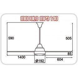 Ventilador de techo 140 cm industrial metalico blanco.