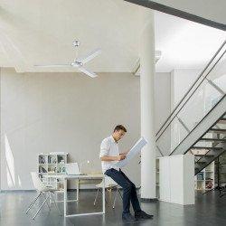 Ventilador de techo 150 cm industrial metalico blanco.