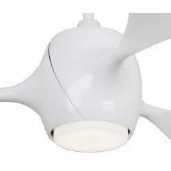 Eco Fiore 142 cm ventilador de techo moderno blanco con luz Led y mando.