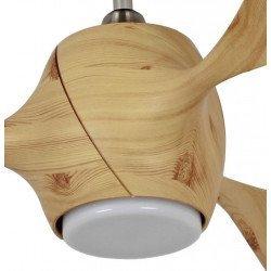 Eco Fiore 142 cm ventilador de techo moderno picea oscuro con luz Led y mando.