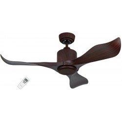 Ventilador de techo moderno Eco Aviador de nogal oscuro, 103 cm con mando