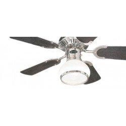 Ventilador de techo, 76 cm., con luz. estilo clásico. Motor del cromo cepillado. aspas - wengué / blanco.