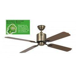 Ventilador de techo 132 cm solar 12 vatios, ideal para instalacion solar, Bronce.