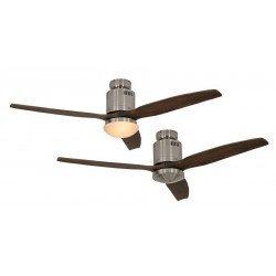Ventilador de techo, DC 132 cm cromo cepillado, aspas de madera color nogal CASAFAN AERODYNAMIX