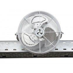 Ventilador industrial de alto rendimiento 40 cm IP44, 43 Vatios y rotacion a 180°.