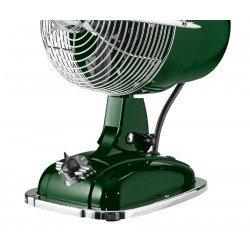 Ventilador de mesa, Retrojet GN, estilo retro, verde británico, con mecanismo oscilante, Casafan.