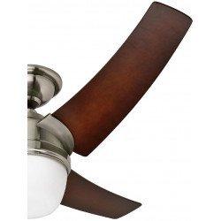 Ventilador de techo con luz, silencioso, moderno 137 cm cromo cepillado Hunter Eurus.