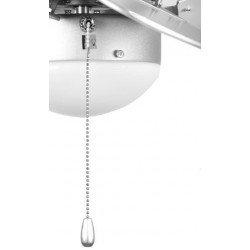 Ventilador de techo gris 76 cm con luz integrada aspas doble caras blancas y grises