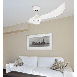 Ventilador de techo de diseño, diseño de una sola cuchilla, motor de corriente continua, con luz LED