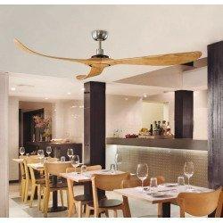 Ventilador de techo, diseño, 182 cm. con láminas encoladas de abeto macizo y control remoto LBA HOME