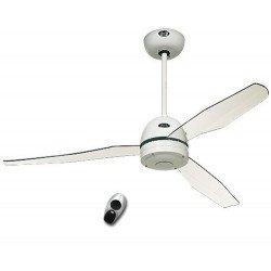 Ventilador de techo con mando a distancia. Diseño RF, moderno, 132 Cm. 2.3 o 4 aspas de acrílico blanco, Casafan
