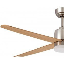 Ventilador de techo 132 Cm DC Alize, un ventilador moderno, un punto de luz LED, y aspas de arce