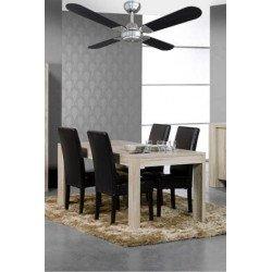 Ventilador de techo, modernо, 106 cm. negro y cromo, OWANDO