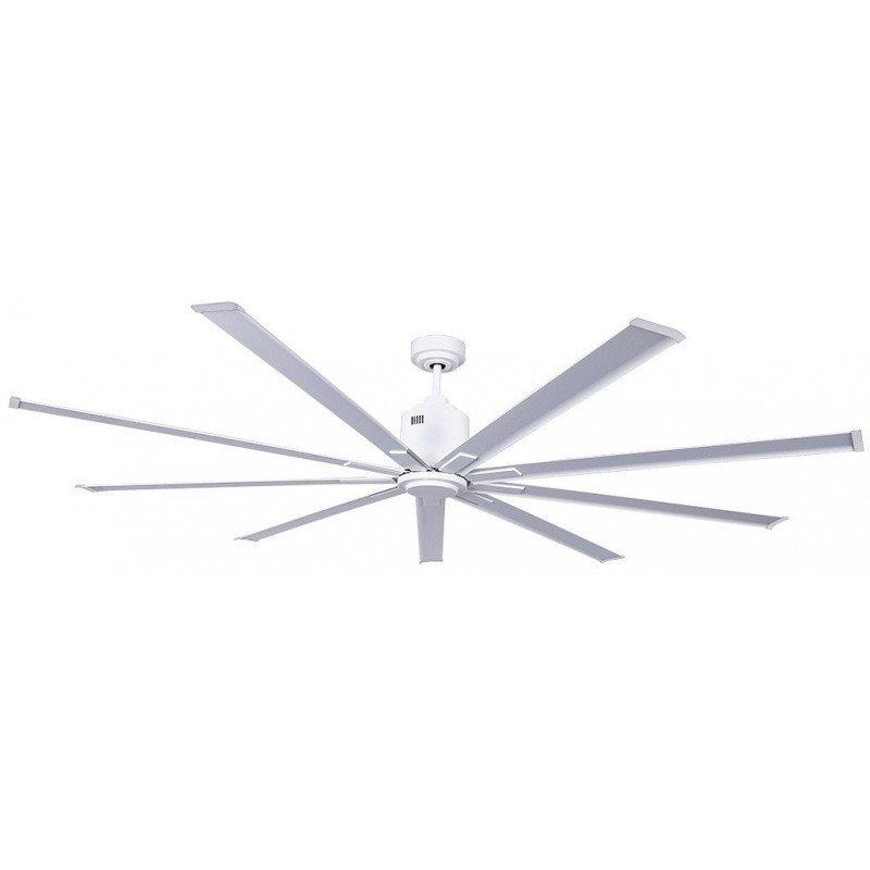 Ventilador de techo, moderno, de gran tamaño DC 220 cm, lacado blanco, CASAFAN BIG SMOOTH TS