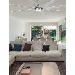 Ventilador de techo grande gris plata y níquel mate con lámpara moderna DC 160 cm FARO Century LED 33553